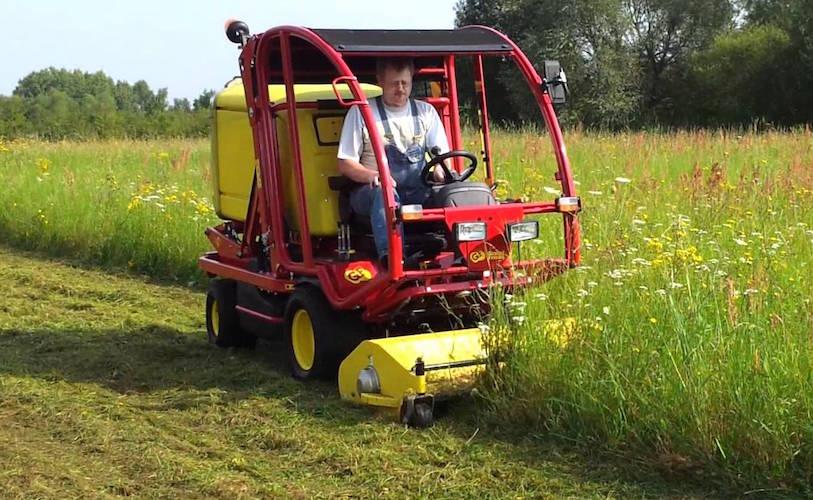 cutting high grass